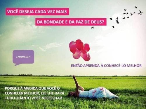 Recado Facebook Conheça melhor a Deus!