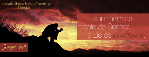 Recado Facebook Deus exalta os humildes