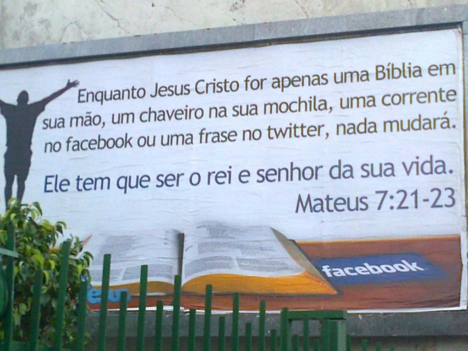 Recado Facebook Jesus é o Senhor da sua vida?