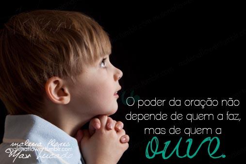Recado Facebook Sua oração a Deus é poderosa