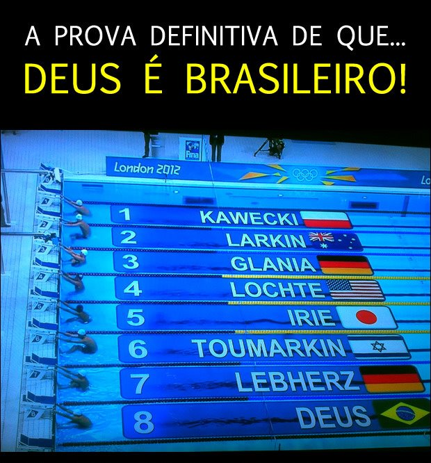 Recado Facebook Deus é brasileiro!