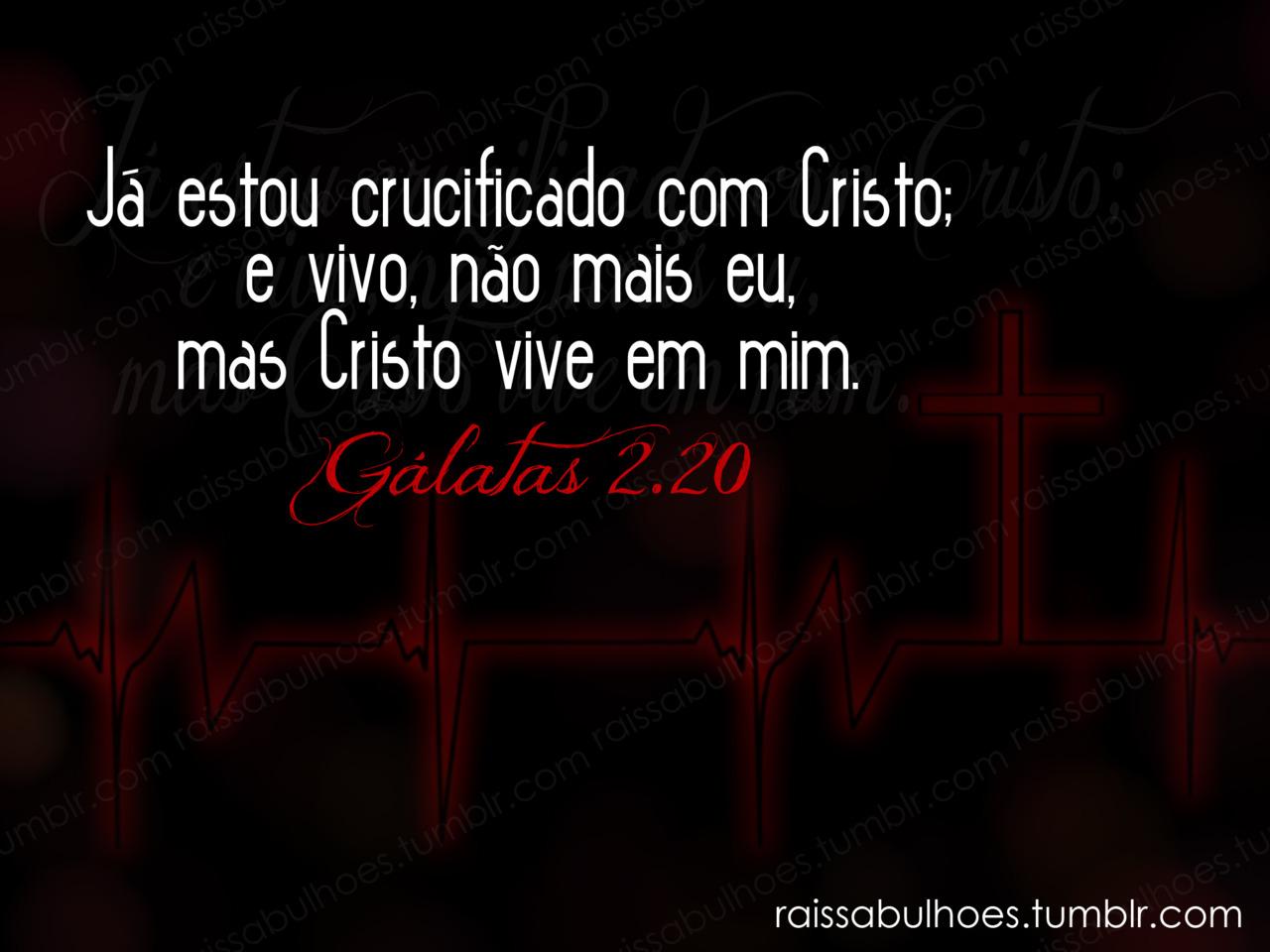 Recado Facebook Fui crucificado com Cristo