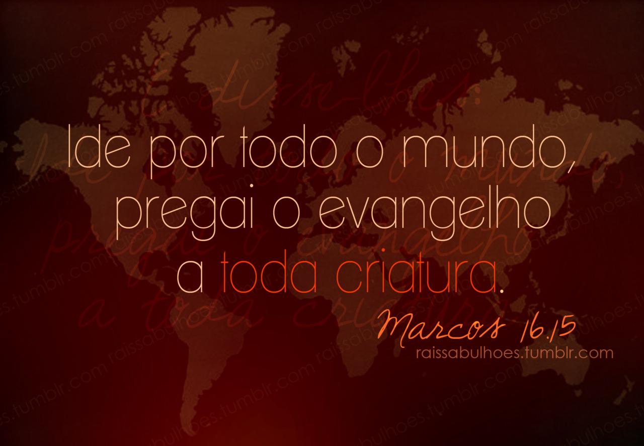 Recado Facebook Pregue o Evangelho à todos!