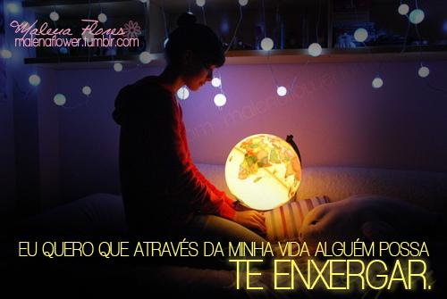 Recado Facebook Que minha vida seja luz!