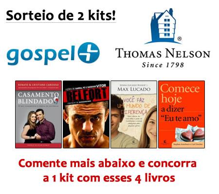 Recado Facebook Ganhe um kit com 4 livros da Thomas Nelson que o Gospel+ estará sorteando!