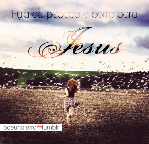 Recado Facebook Corra para Jesus Cristo!