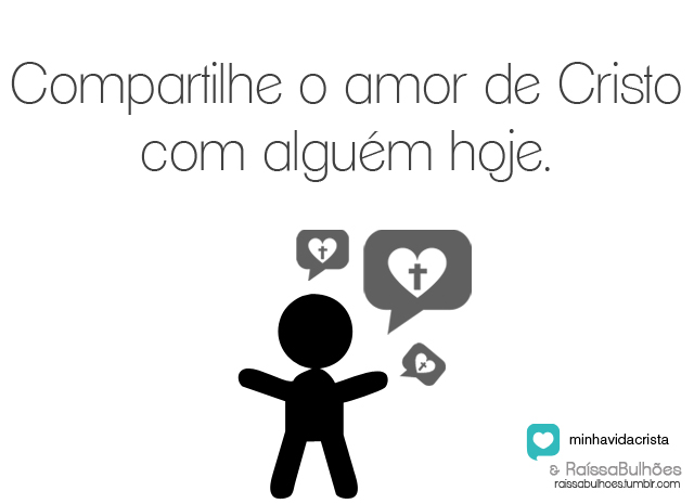 Recado Facebook Fale do amor de Deus