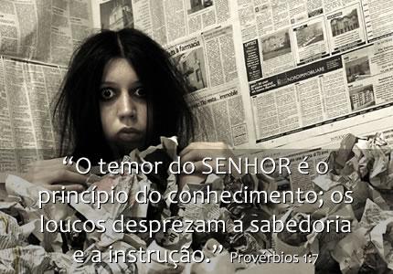 Recado Facebook O temor do SENHOR é o princípio do conhecimento!