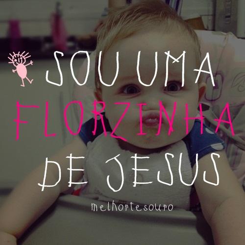Recado Facebook Sou uma florzinha de Jesus!
