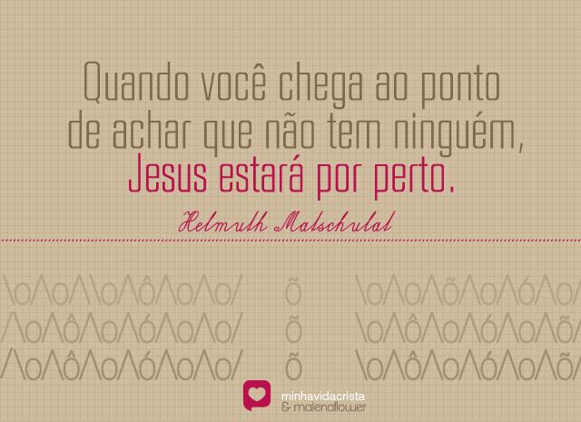 Recado Facebook Jesus está contigo, confie!