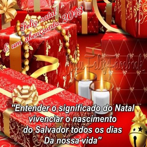Recado Facebook Feliz natal e abençoado 2013!