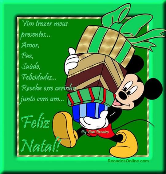 Recado Facebook Feliz natal Mickey