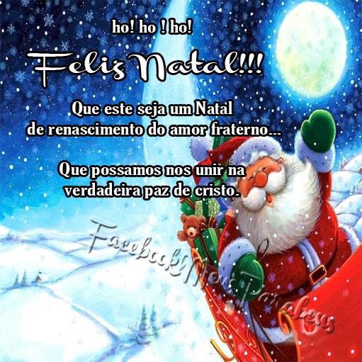 Recado Facebook HO HO HO Feliz natal!
