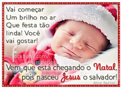 Recado Facebook Nasceu Jesus, o salvador!