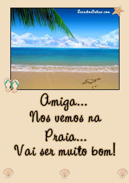 Recado Facebook Nos vemos na praia!