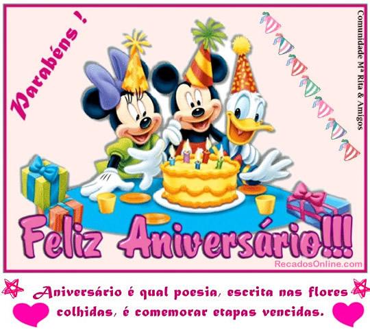 Recado Facebook Parabéns, feliz aniversário!