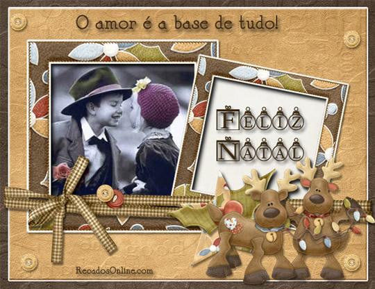 Recado Facebook Um feliz natal cheio de amor!