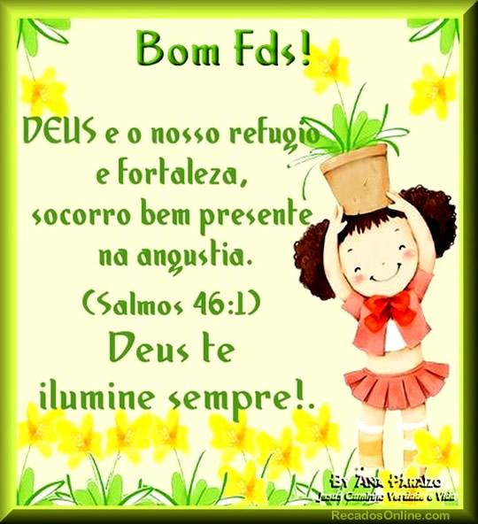 Recado Facebook Bom fds!