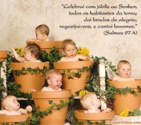Recado Facebook Celebrem com júbilo ao Senhor
