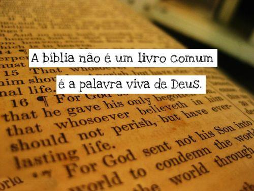 Recado Facebook A Bíblia não é um livro comum, é a palavra viva de deus!