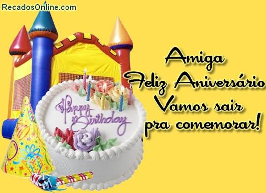Recado Facebook Amiga, feliz aniversário!