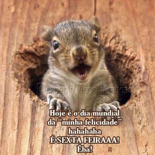 Recado Facebook Dia da felicidade: sexta!