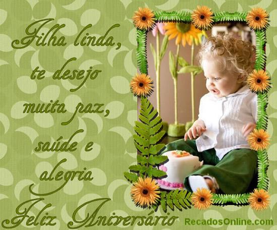 Filha Linda Feliz Aniversário Recados Para Facebook