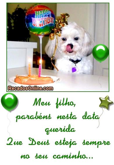 Recado Facebook Filho, parabéns pra você!