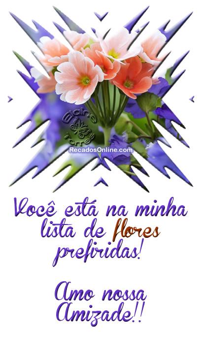 Recado Facebook Flor, amo nossa amizade!