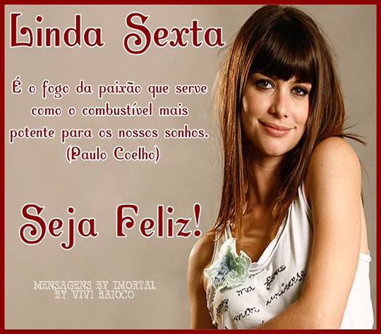 Recado Facebook Linda sexta!