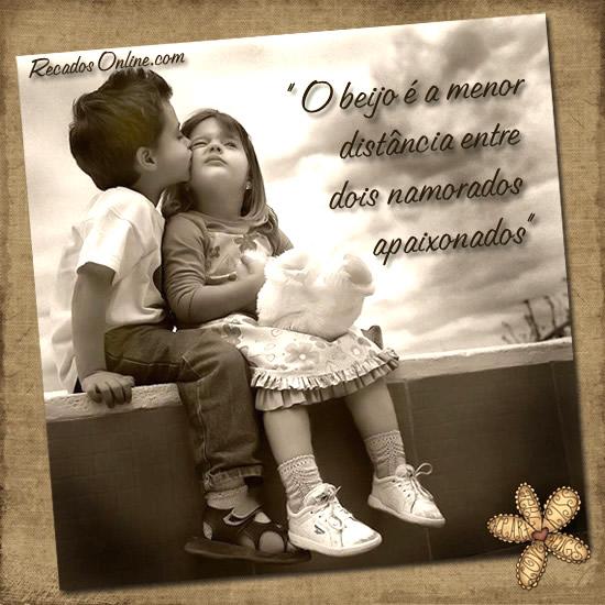 Recado Facebook O beijo apaixonado