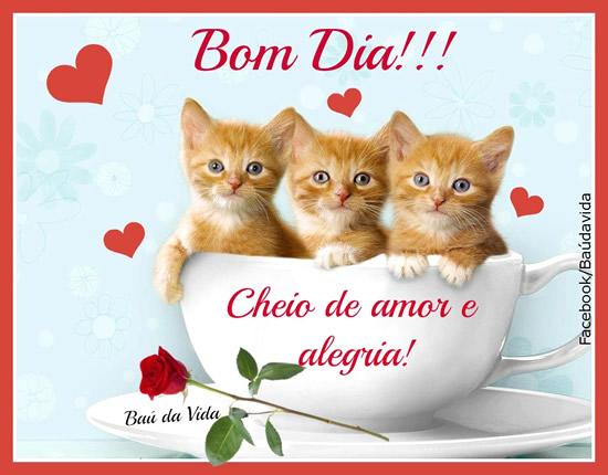 Recado Facebook Bom dia, cheio de amor e alegria!