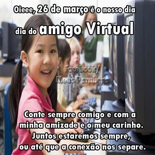 Recado Facebook Dia do amigo virtual
