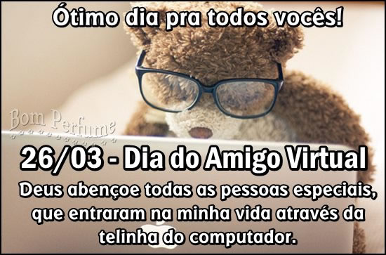 Recado Facebook Dia do amigo virtual!