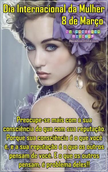 Recado Facebook Dia Internacional da Mulher 08 de março