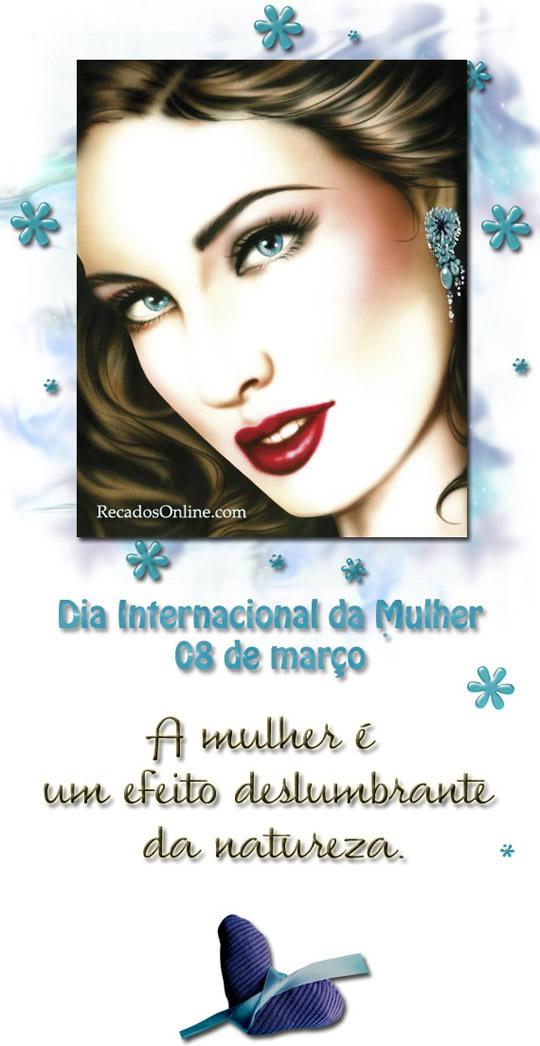 Recado Facebook Dia internacional da mulher