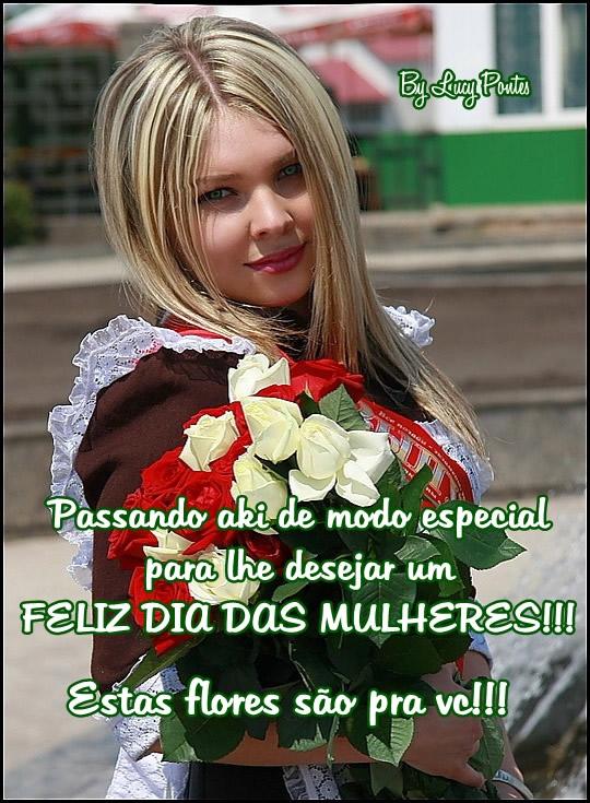 Recado Facebook Feliz dia das mulheres!