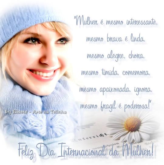 Recado Facebook Feliz dia internacional da mulher!
