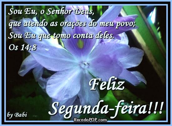 Recado Facebook Feliz segunda-feira versículo