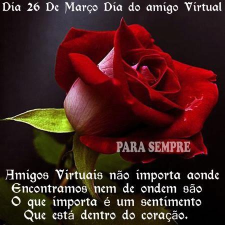 Recado Facebook Hoje é dia do amigo virtual!