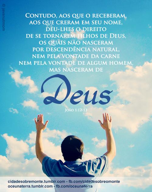 Recado Facebook Você crê em Deus?