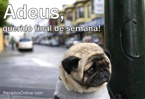 Recado Facebook Adeus fds!
