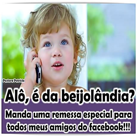 Recado Facebook Beijos pros amigos do facebook!