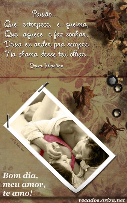 Recado Facebook Bom dia amor, te amo!