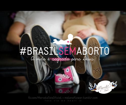 Recado Facebook Brasil sem aborto!
