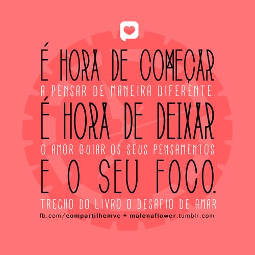 Recado Facebook Que o amor te guie!