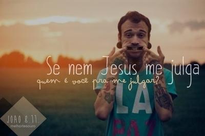 Recado Facebook Se nem Jesus me julga