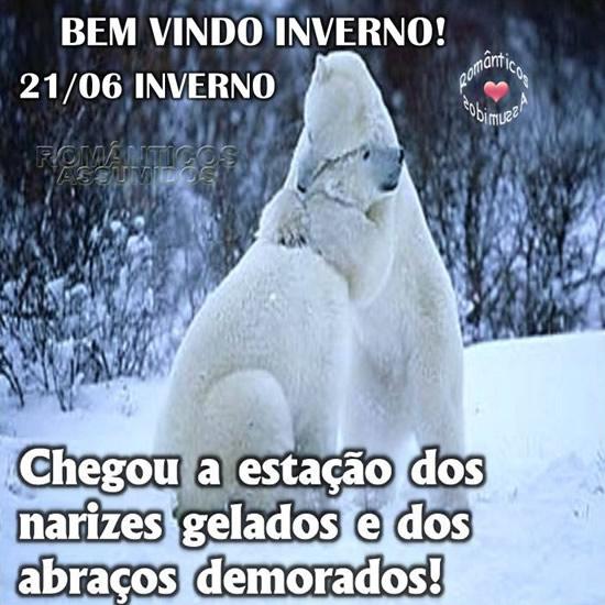 Recado Facebook Bem vindo, inverno!