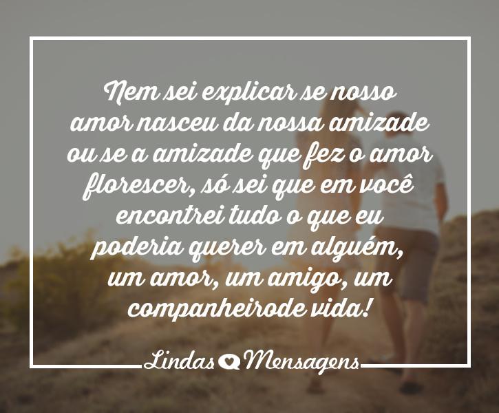 Recado Facebook O nosso amor é completo.