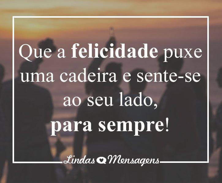 Recado Facebook A felicidade está aqui!